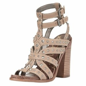 Sam Edelman Keith Studded Leather Block Heel Sandal